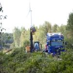 Krūmu giljotīnas treilera pārvadājumi
